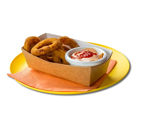 BREADED ONION RINGS  (7 KOM) €3.00